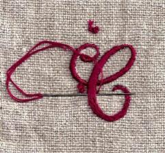 embroidered letter C