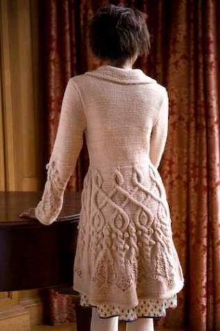 aran knitted coat