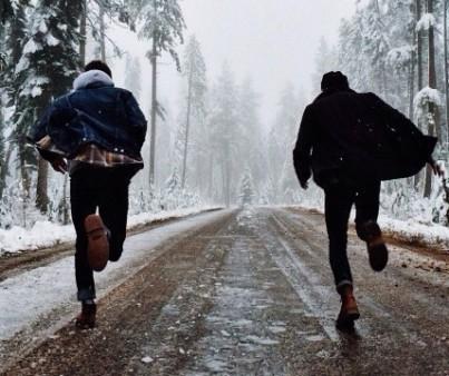 guys running away