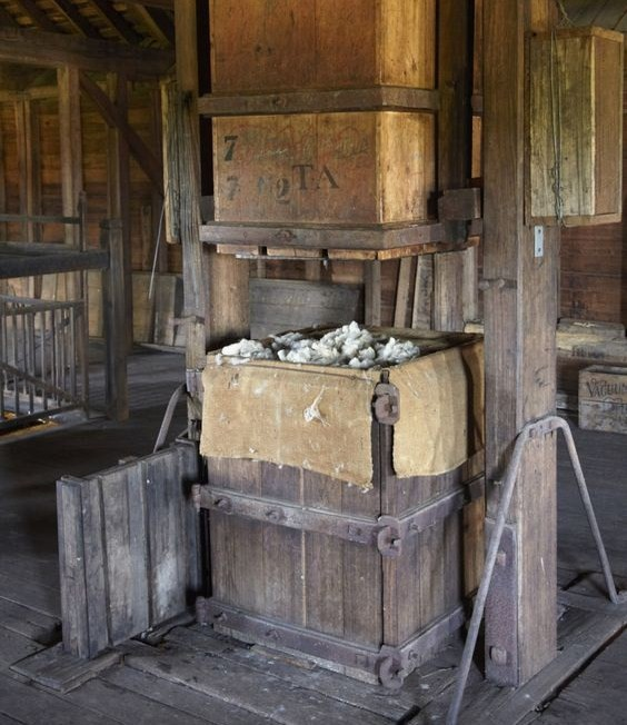 old wool press