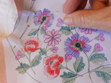 C: Junior's embroidery: pricking the design