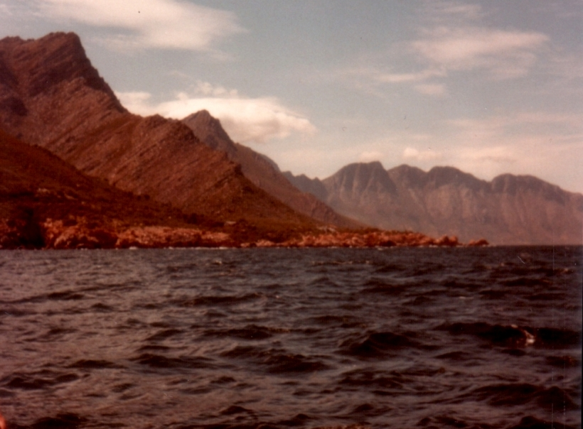 Gordon's Bay from a boat